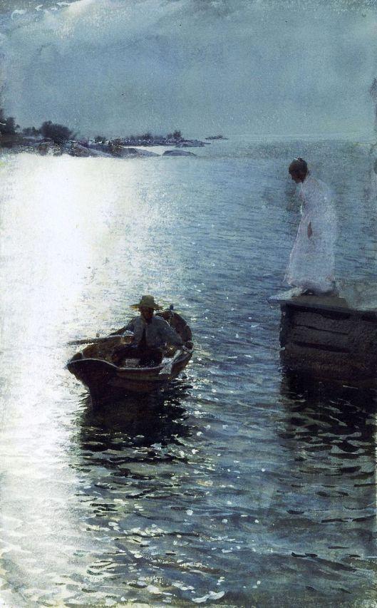 'Sommervergnügen' Anders Zorn 1885 {{PD}}