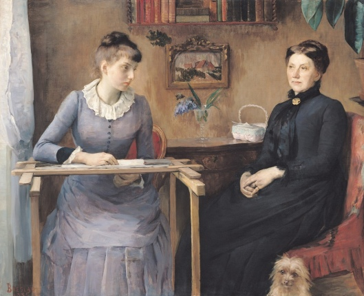 'At home or Intimacy' Louise Catherine Breslau 1884 {{PD}}