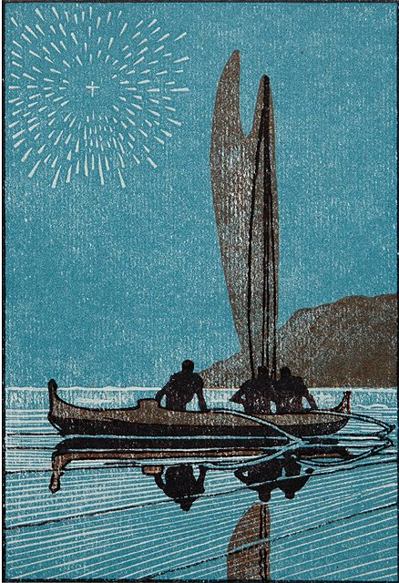 'Canoe and Star' c1920 Arman Manookian {{PD}}