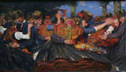 Carl Bantzer 'Schwälmer Tanz' 1897-1898 {{PD}}