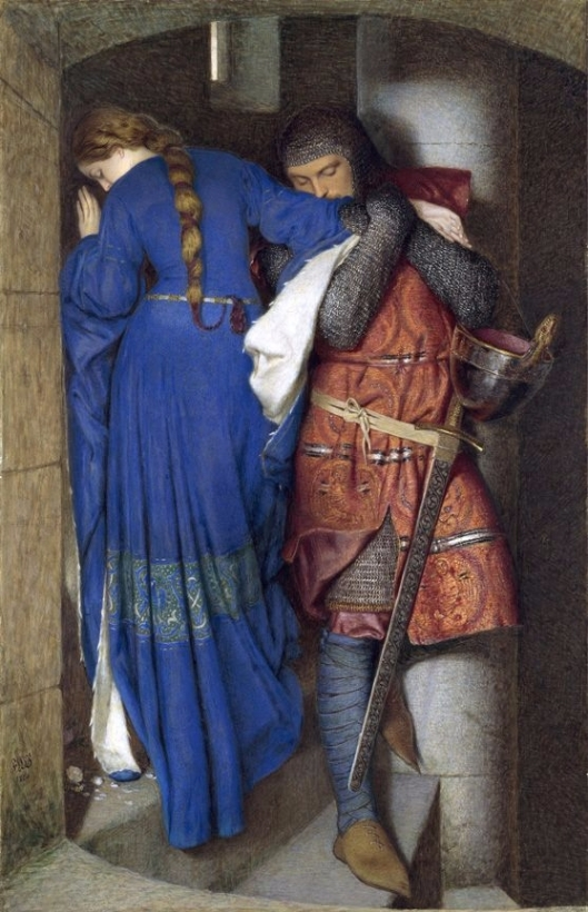 Usually we turn away from the past, but today we embrace it. Hellelil and Hildebrand, the Meeting on the Turret Stairs, by Burton 1864 {{PD}} Frederick William Burton