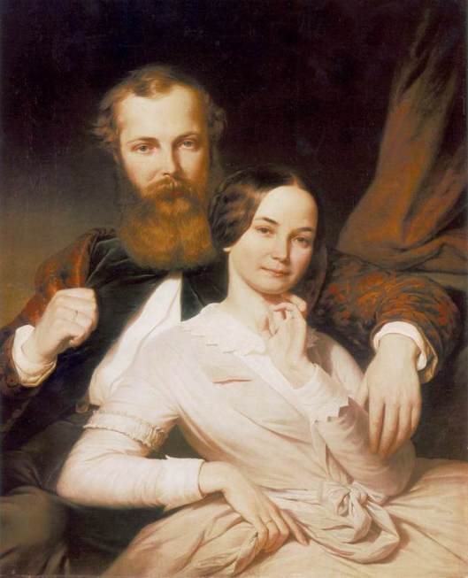 Henrik Weber - 'Composer Mihály Mosonyi and his Wife' 1840s {{PD}}