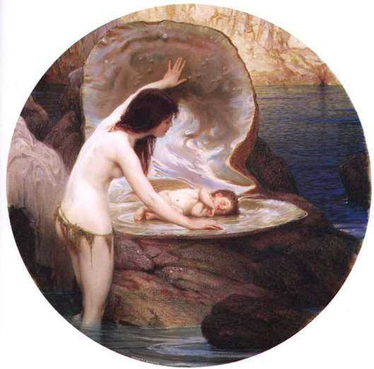 The world really is your oyster; a new 'I Am' can be born. 'A Water Baby' Herbert James Draper 1899 {{PD}}