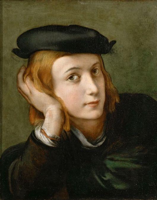 Parmigianino (Attrib.) - 'Ritratto di un giovane uomo' {{PD}}