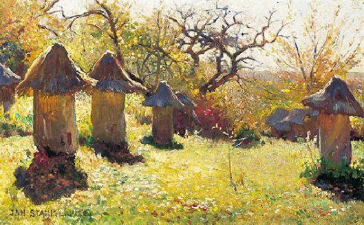 "Jan Stanisławski ""Beehives in the Ukraine"", c. 1895 {{PD}}"