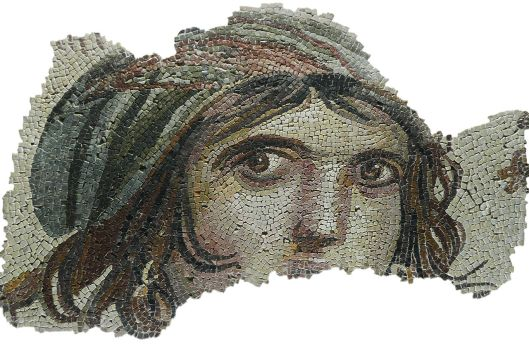 """The Gypsy Girl"" Zeugma mosaic {{PD}}"