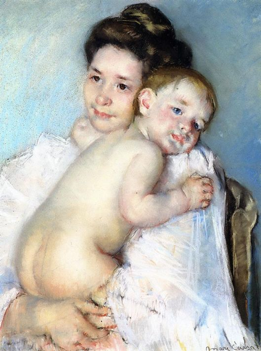 I'm asking you to nurture something without knowing what it is--will you do it? Mary Cassatt 'The Young Mother (Mother Berthe holding her baby)' c. 1900 {{PD}}