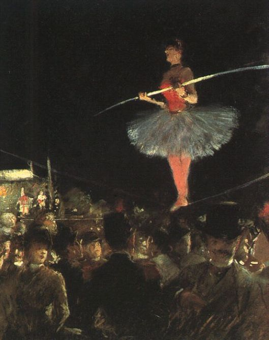 'The Tightrope Walker' 1895 Jean-Louis Forain {{PD}}