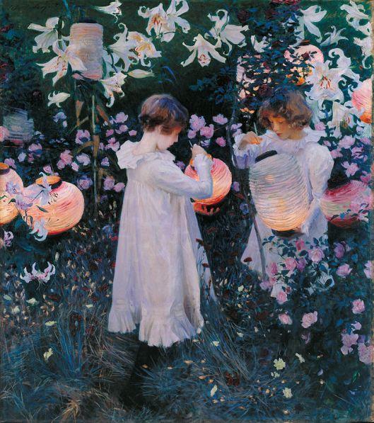 John Singer Sargent - 'Carnation, Lily, Lily, Rose' c1885 {{PD}}