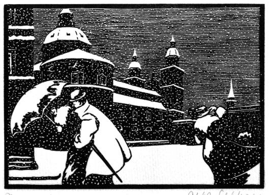 Alfred Gelbhaar 'Dom im Winter' 1920s {{PD}}