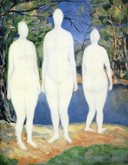 'Bathers' 1908 Kazimir Malevich {{PD}}