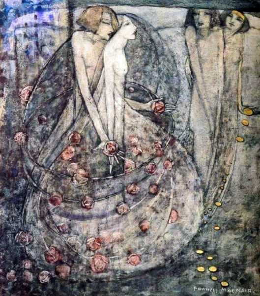 Hmmm, wonder what the title refers to here. 'The Choice' Frances MacDonald McNair 1908 {{PD}}