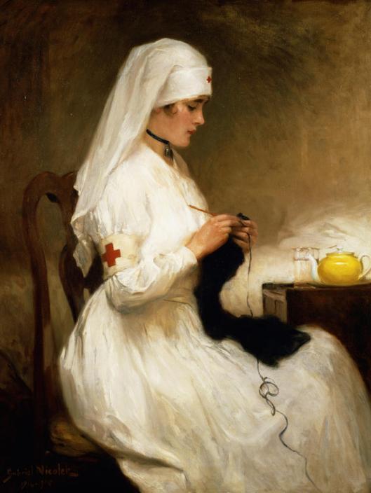 'Portrait of a Nurse from the Red Cross' Gabriel Émile Édouard Nicolet 1914 {{PD}}