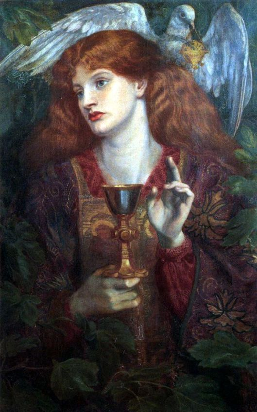 Dante Gabriel Rossetti 'Holy Grail' 1873 {{PD}}