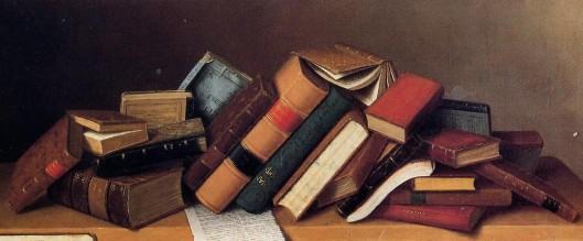 Job Lot Cheap by William Michael Harnett, 1878 {{PD}}