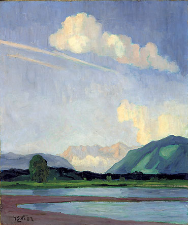 'Sunrise' Julius Exter Early 20th century {{PD}}