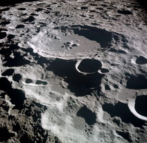 Lunar crater Daedalus. We know what happened to him, right? Stay away from the Sun, kids! {{PD}}
