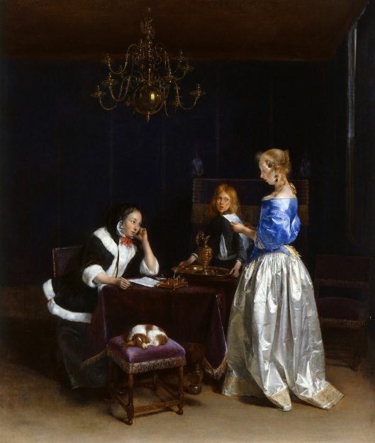 'Woman Reading a Letter' 1660-1662 Gerard ter Borch {{PD}}
