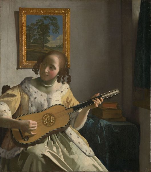 'The Guitar Player' by Johannes Vermeer {{PD}}