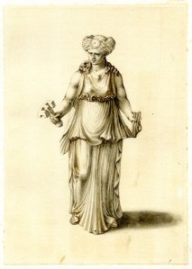 Hekate, holding a key and a rope {{PD}}