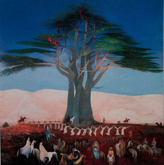 Csontváry Kosztka, Tivadar - Pilgrimage to the Cedars of Lebanon c1900 {{PD}}