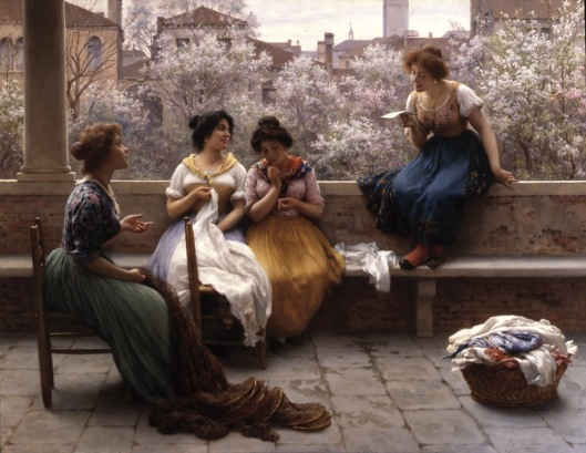 Eugen von Blaas - 'The Love Letter' 1904 {{PD}}