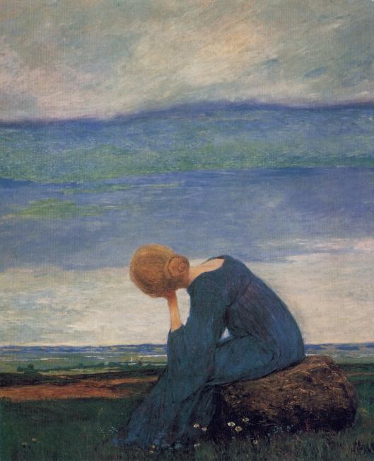 Heinrich Vogeler 'Sehnsucht (Träumerei)' c1900 {{PD}}