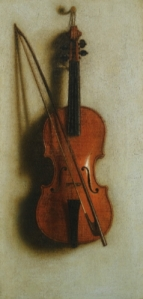 'Portrait of a violin' Jan van der Vaart {{PD}}