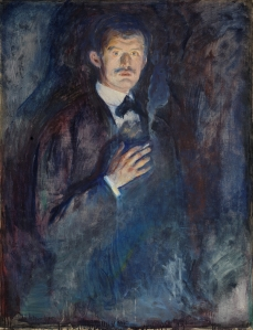 Edvard Munch  'Self-Portrait with Burning Cigarette' 1895 {{PD}}