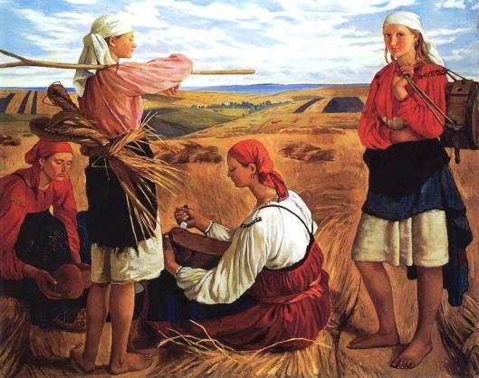 'Harvest' Zinaida Serebryakova 1914 {{PD}}