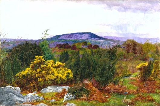 Daniel Alexander Williamson - Spring, Arnside Knot and Coniston range of hills from Warton Crag 1863 {{PD}}