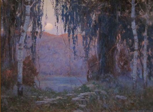 'Night Scene' Carl Rudolph Krafft (1884 - 1938) {{PD}}