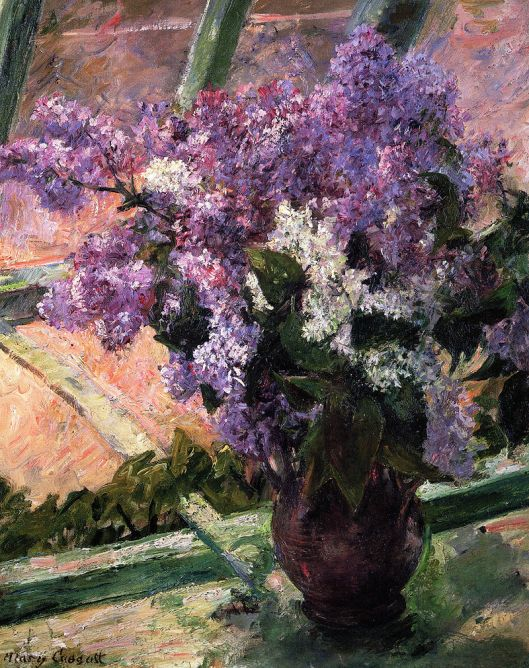Mary Cassatt  'Lilacs in a Window' 1880 {{PD}}