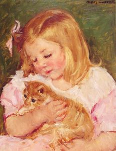 Cassatt Mary 'Sara Holding A Cat' 1908 {{PD}}