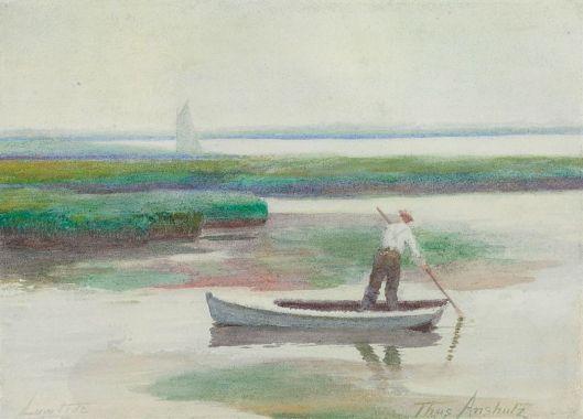 Thomas P. Anshutz - 'Low Tide' {{PD}}