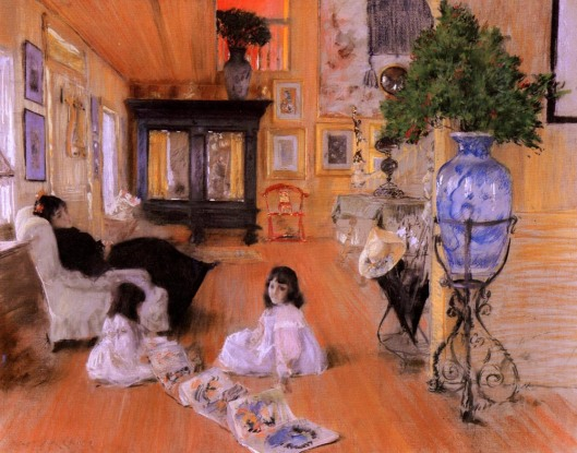William Merritt Chase 'Hall At Shinnecock' 1893 {{PD}}