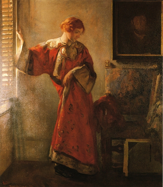 Joseph DeCamp 'The Window Blind' 1920 {{PD}}