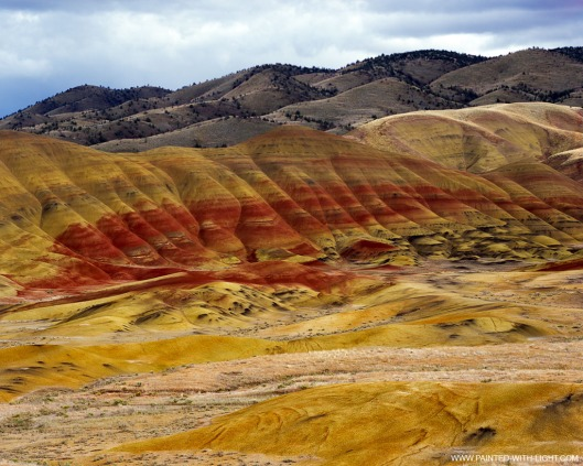 Photographed by Doug Dolde at the John Day Fossil Beds in Oregon. More images from this location at http://www.painted-with-light.com {{PD}}