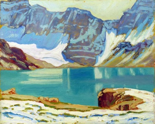 'Lake McArthur, Yoho Park' - James MacDonald 1924 {{PD}}