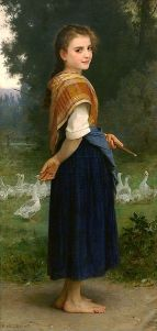 Adolphe Bouguereau - 'The Goose Girl' 1891 {{PD}}