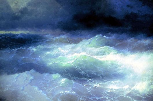 'Among the Waves' Ivan Aivazovsky 1897 {{PD}}