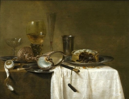 'Still Life with Nautilus Cup' Willem Claesz 1640 {{PD}}