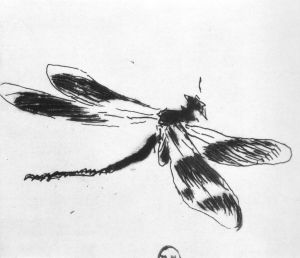 Dragonfly (etching for Le Fleuve by Charles Cros) Édouard Manet 1873 {{PD}}