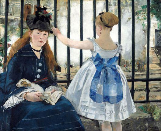 Edouard Manet - 'Le Chemin de fer' 1873 {{PD}}