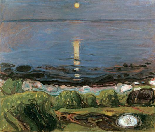 Edvard Munch - 'Summer Night by the Beach' (1902-03) {{PD}}