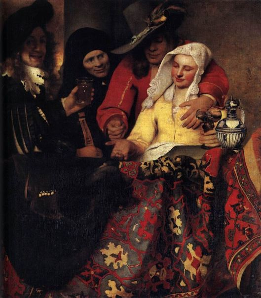 Johannes Vermeer - 'The Procuress' 1655 {{PD}}