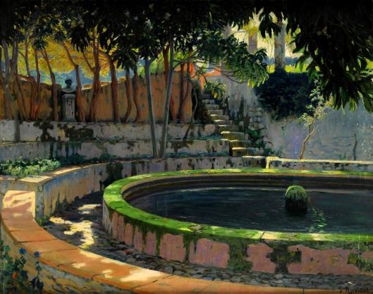 'Jardín de las Elegías' Santiago Rusiñol c1903 {{PD}}