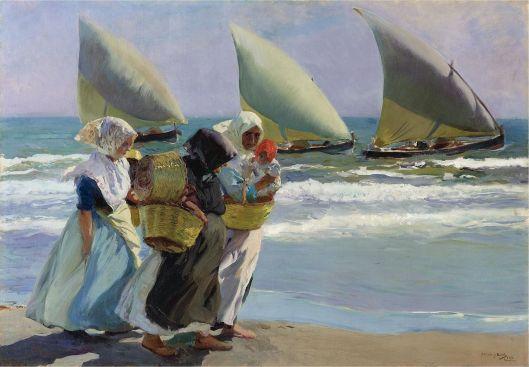 Joaquin Sorolla - 'Las Tres Velas' 1902 {{PD}}