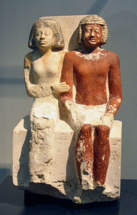 Egyptian Figures, 5th Dynasty, Photo by Andreas Praefcke {{PD}}