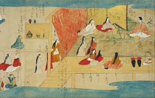 Here, everyone is a mouse. 日本語: 鼠草子絵巻 'The Mouse Story' Muromachi to Momoyama period (16th century)